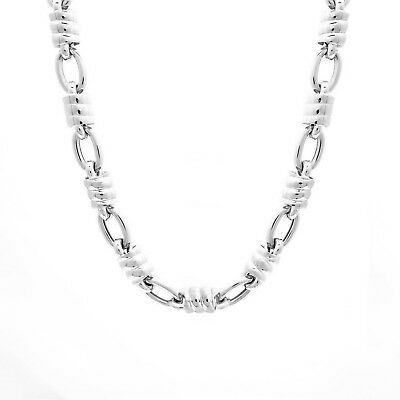 """Rope Chain 14k Solid White Gold Necklace 3mm Thick 20"""" Long"""