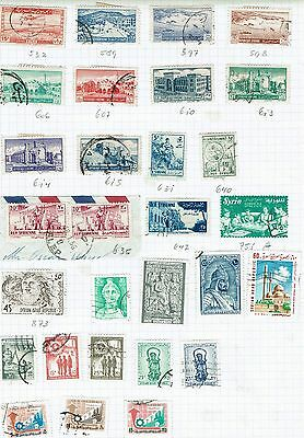 Syria Stamps on old album page