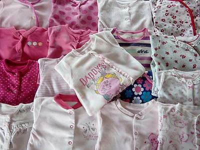 Large Bundle Baby Girls Sleepsuits 0-3 Months & N/B Clothes Next Mothercare Tu +