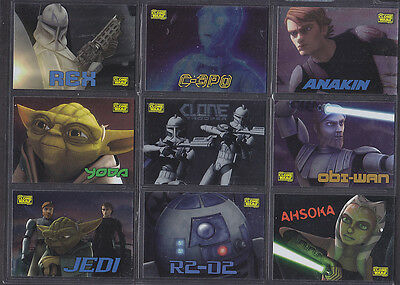 Topps Star Wars - The Clone Wars 2008 - Ten Card Foil Insert Set (Retail)