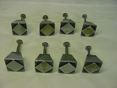 8 Vintage Art Deco Drawer Pull Knobs-Chrome Or Nickle-Super Nice+Screws