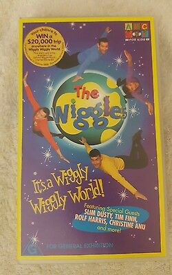 THE WIGGLES VHS - Its a wiggly wiggly world! - ABC for kids