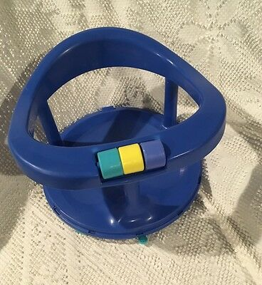 Safety 1st First Blue Locking Swivel Baby Bath Tub Chair Seat Suction Ring