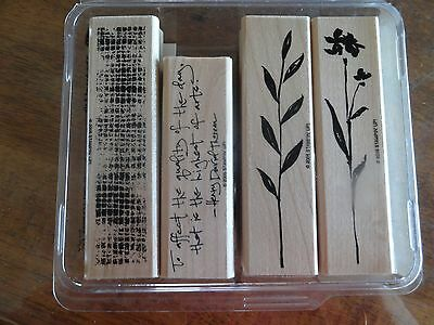 """Stampin' Up! """"The Art of Life"""" Wood Mount Stamp Set (Retired)"""