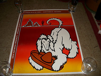 Vintage 1986 50th National Specialty Afghan Hound Club of America Poster
