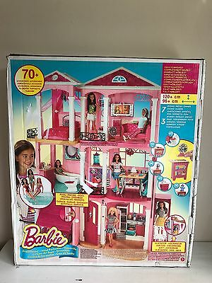 Girls Barbie 3 Storey Doll Dream House Play Set With Furniture/Accessories NEW