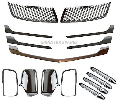 Mercedes Sprinter Chrome Mirror Handle Bonnet Grill Styling Cover Set 2013 On