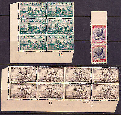 NEW ZEALAND 1956 Fine Used in  Blocks (16 stamps) as Scan