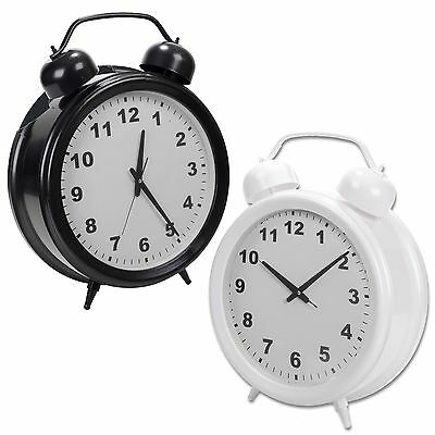 Large 60cm Oversized Double Bell Style Wall Clock Round Modern Home Bedroom XL