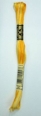DMC Stranded Cotton Embroidery Floss, Colour 90 Variegated Yellow