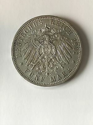 5 mark 1901 Wilhelm II Guillaume 2 Berlin Argent 200 ans Royaume Prusse 1701