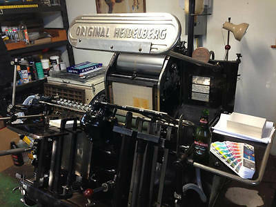 Heidelberg Windmill Platen 10X15 (Red ball 1960) and much more