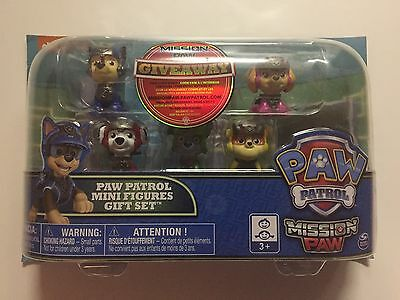 NEW Paw Patrol Mission Paw - Mini Figures Gift Set - 6 Pack