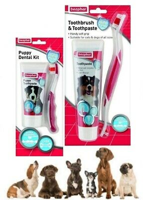 Beaphar Dog Puppy Dental Oral Care Healthy Teeth & Gums fights Plaque & Tartar