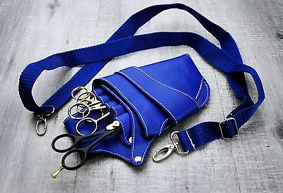 Blue Barber/saloon Hairdressing Scissor And Comb Holster Waist Pouch/bag