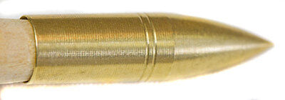 SCREW ON BRASS PILES/POINTS by Sherwood VARIOUS WEIGHTS FOR LONGBOW, 1 doz pack