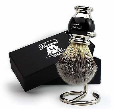Silver tip Synthetic Shaving Brush Suitable for all skin type + Unique Design
