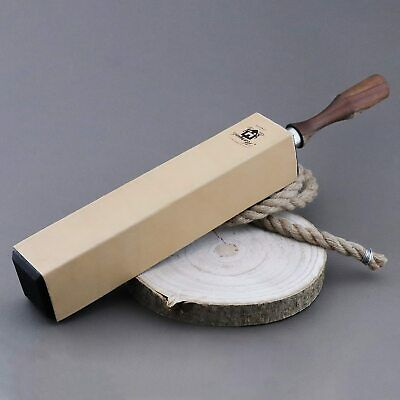 Pure Leather 4 Sided Strop for Sharping All Kind Of Blades & Razors.