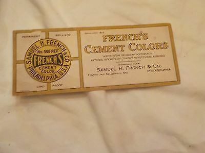 Vintage Blotter French's Cement Colors Samual H.french & Co. Philadelphia Pa.