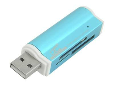 USB 2.0 MMC, M2, MS, Mini Micro SD Card Reader Adapter for Cell Phone Tablet PC
