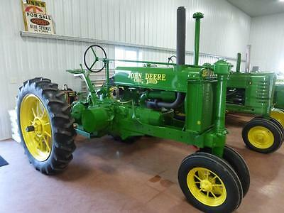 1938 John Deere Unstyled G Tractor For Sale Front & Rear Round Spoke Wheels