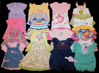 25 pc. Baby Girls Newborn Summer Outfits Clothes Lot Free Ship!