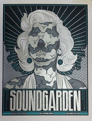 Soundgarden Hollywood Bowl Los Angeles Concert Gig Poster  S/n By Artist