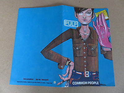 PULP Common People RARE ORIGINAL 1995 PROMO COMIC BOOK JAMIE HEWLETT GORILLAZ