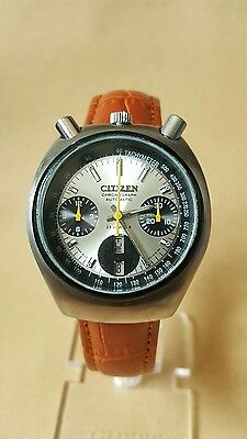 Vintage Citizen Bullhead 8110A chronograph automatic gents mens watch