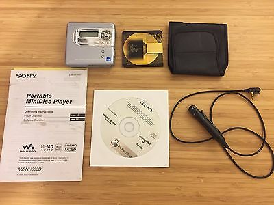 Sony MiniDisc MD Player Walkman MZ-NH600D Hi-MD NetMD with SonicStage software