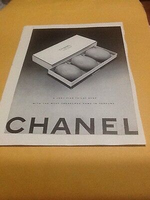 1949 Chanel No 5 perfume soap box photo vintage print ad