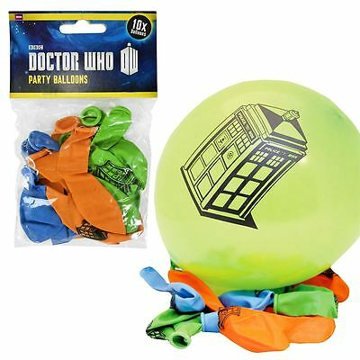 New 1 3 5 Or 10 Doctor Who TARDIS Balloons 10 Packs Birthday Party Official