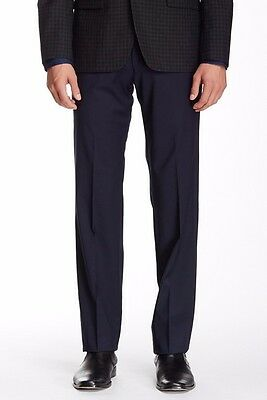 John Varvatos New With Tags Pants Navy Size 30R Dress - Flat Front Wool