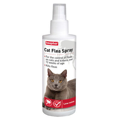 Beaphar Cat Kitten Flea Spray Pump Treatment Cats Kittens Killing Fleas 150ml