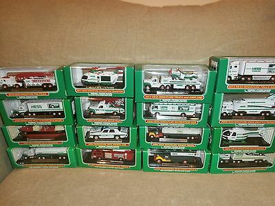 Hess Miniature Truck Collection 16 Toys 1998 to 2013 - NRFB - One of Each Year!