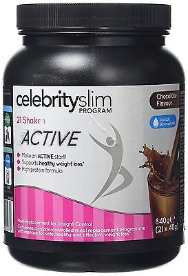Celebrity Slim Active Shake 840g (7 Day-21 Shakes) - Chocolate