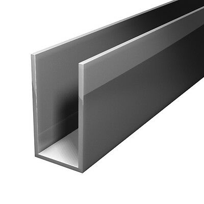 Aluminium Extruded U Channel Profile lenght 2000 mm - Free Cut Service
