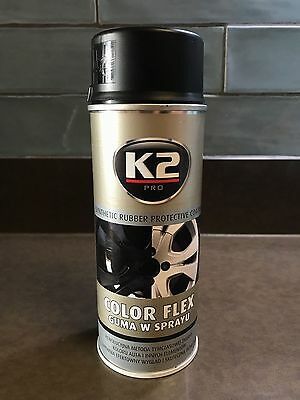 K2 COLOR FLEX PLASTIC MATT BLACK PLASTI DIP RUBBER PAINT SPRAY CAN AEROSOL 400ml