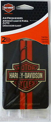 Harley-Davidson 2-pack Vanilla Air Freshener Classic Orange Logo Car Truck NEW