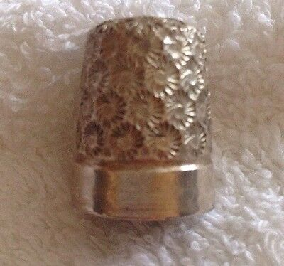 solid silver thimble