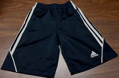 Adidas S (8) kids shorts Black & white Climalite