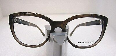 65fe8365f1 New Burberry B 2166 Brown 3470 Plastic Eyeglasses Frame Size 52-16-140 Italy