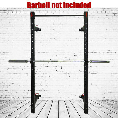 Wall Mounted Foldable Power Rack  - Power Cage / Weight Bench Press - Squat Cage
