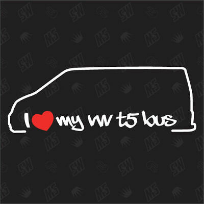 I Love My Vw T5 Bus Sticker From Yr 03 Shocking Sticker Caravelle Multivan