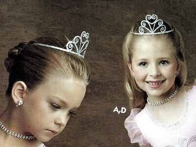 NEW LOT OF 6 SILVER SEQUIN TIARA DANCE DRESS UP BEAUTY PAGEANT CROWN  One Point