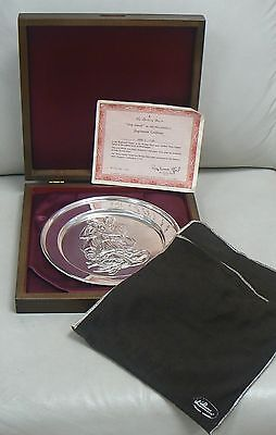Vintage Danbury Mint Sterling Silver Plate # 7347 Holy Family by MICHELANGELO