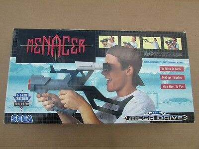Sega Menacer Light Gun Boxed And Complete With All Accessories And Game Vgc