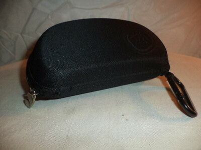 New Vonzipper Eyeglass / Sunglass Case, Black With Clip