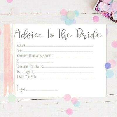 Hen Party Accessories Advice To The Bride Hen Party Games Words Of Wisdom Keepsa