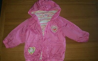 girls next waterproof kacket with hood age 9-12 months